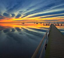 Griffins gully jetty - Geelong by Hans Kawitzki