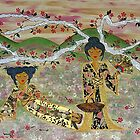 Japanese Sisters ~ tranquility garden by Lisa Frances Judd ~ Original Australian Art