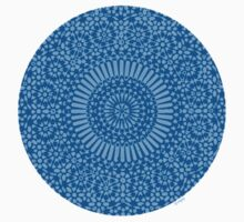 small blue chakra mosaic circle girly by offpeaktraveler