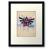 Triforce Emblem Splash Framed Print