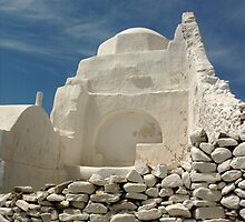 Mykonos Church by Vivian Christopher