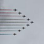 Red Arrows horizontal by Jasna