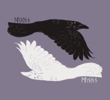 Huginn and Muninn [with runes] by idawgness
