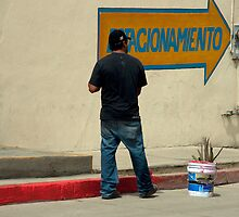 Mexican Curb Painter by phil decocco