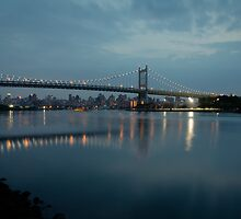Triborough Bridge at Night by Joe Rivera