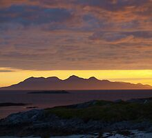Sunset over Rum by Margaret Walton