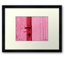 Pink Momentum Framed Print