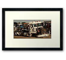 Truck 7952 White Framed Print
