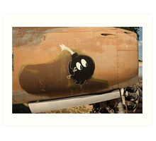 An Image of Luck Painted on Jet Engine Housing Art Print