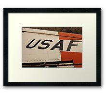 USAF Logo on Wing Framed Print
