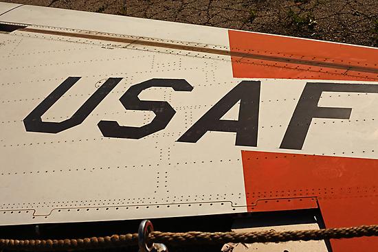 USAF Logo on Wing by Thomas Murphy