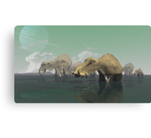 River Crossing (on an Alien World) Canvas Print