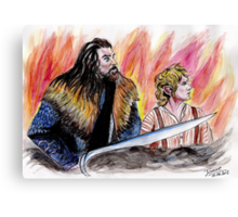 Bilbo and Thorin, Martin Freeman and Richard Armitage Canvas Print