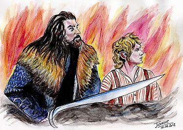 Bilbo and Thorin, Martin Freeman and Richard Armitage by jos2507