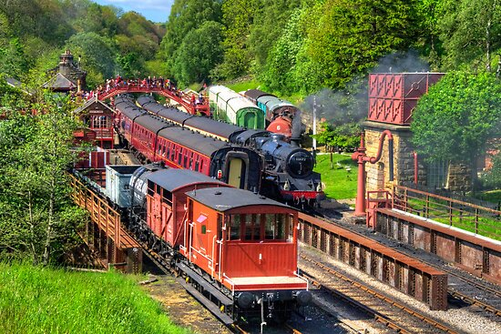 Trains at Goathland Station by Tom Gomez