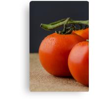 Closeup of cherry tomatoes Canvas Print