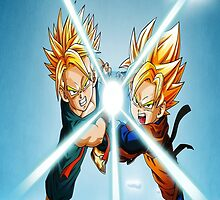 Dragon Ball GT Goten and Trunks iPhone 4/4s Case by jesse421