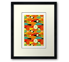 Chiyogami Crimson & Carrot [iPhone / iPod Case and Print] Framed Print