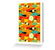 Chiyogami Crimson & Carrot [iPhone / iPod Case and Print] Greeting Card