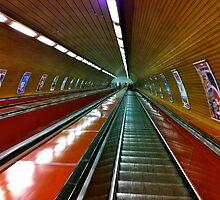 Prague tube station by Ommik