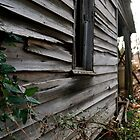 Old wood farmhouse side view by ashley hutchinson