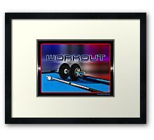 Work Out Framed Print