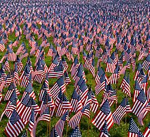 Sea of red, white and blue by Scott Weeding