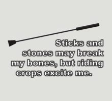 Riding Crops Excite Me (T-Shirt/Hoodie) by BBCSPUL