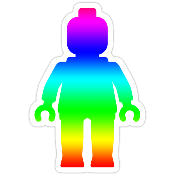 Minifig [Large Rainbow 1] by Customize My Minifig by ChilleeW