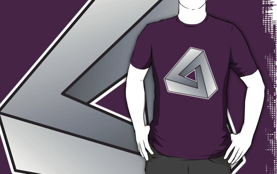Mobius Triangle (Angular) T-shirt by one-in-the-eye