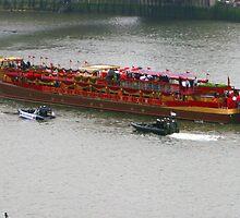 The Diamond Jubilee Royal Barge  by Paul Dean