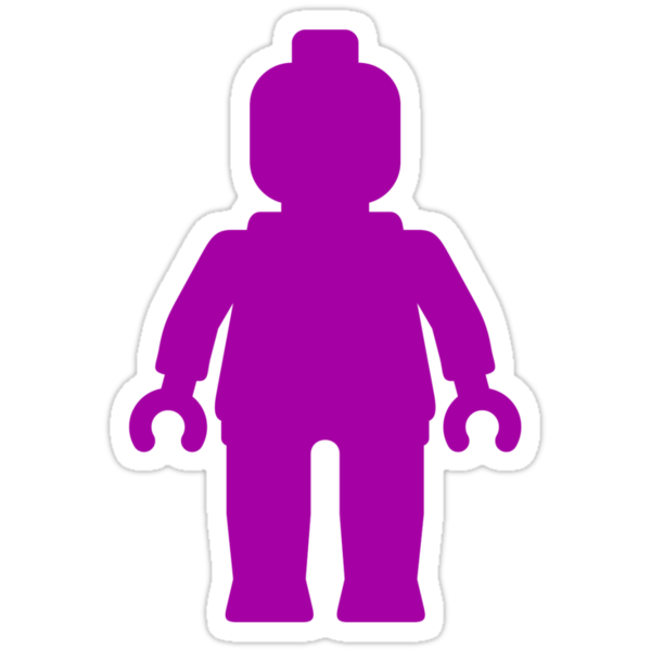 Minifig [Purple] by Customize My Minifig by ChilleeW