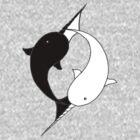 Narwhal YinYang  - Pocket Sized by Flynnthecat