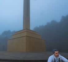 Jesse and Mt Macedon Cross by Jules Cardinale