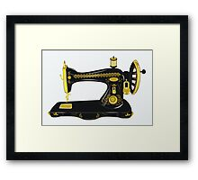 Old sewing machine  Framed Print