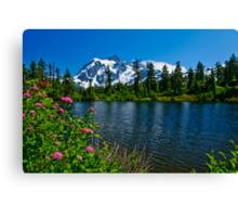 Mount Shuksan and Highwood Lake Canvas Print