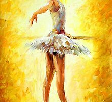 IN THE BALLET CLASS - OIL PAINTING BY LEONID AFREMOV by Leonid  Afremov