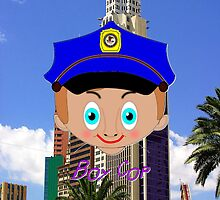 Boy Cop iPhone case design by Dennis Melling