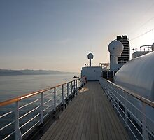 The Promenade Deck on Ms Oosterdam heading south from Alaska by Keith Larby