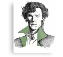 The Sherlock Variations (Green) Metal Print