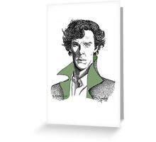 The Sherlock Variations (Green) Greeting Card
