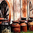 Milk Cans By The Shed by tvlgoddess