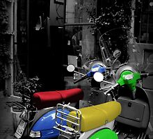 Colored Scooters by seanwareing