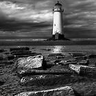 iPhone Case of Lighthouse at Talacre by Adrian Evans