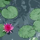 Pink Lotus in Color by Janelle Pacheco
