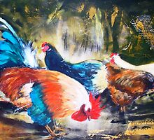 The Chooks in the backyard by patty123