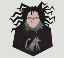 Jon Snow & Ghost Cut-out by Elizabeth Fahlman
