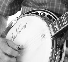 Earl Scruggs Autographed Banjo by Kent Nickell
