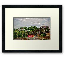 Overlooking Phillipsburg from Easton PA Framed Print