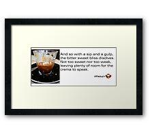 Caffeinated Poetry - Bitter sweet - Sticker Framed Print